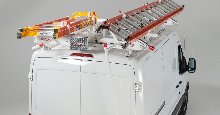The WEATHER GUARD EZGLIDE2 is versatile and fits a variety of ladders