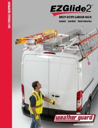 WEATHER GUARD EZGLIDE2 Drop-Down Ladder Rack Van Solutions Brochure