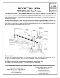 WEATHER GUARD Hi-Side and Super Side Box Installation Product Bulletin