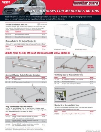 WEATHER GUARD Mercedes Metris Sell Sheet